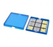 WINNIT MAGNETIC TIC-TAC-TOE GAME BLUE,TRANSPARENT