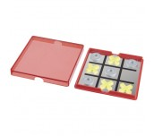 WINNIT MAGNETIC TIC-TAC-TOE GAME RED,TRANSPARENT