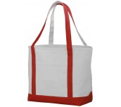 PREMIUM HEAVY WEIGHT COTTON BOAT TOTE NATURAL/ЧЕРВЕН
