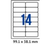 ЕТИКЕТИ A4 SPREE/CASSA 99.1/38,1MM No14 ОП100 ОБЛИ