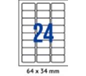 ЕТИКЕТИ A4 SPREE/CASSA 64/34MM No24 ОП100 ОБЛИ