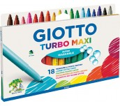 ФЛУМАСТЕРИ GIOTTO TURBO MAXI 18 ЦВЯТА
