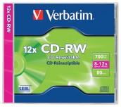 CD-RW VERBATIM 700MB КУТИЯ
