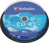 CD-R VERBATIM 700MB 52X ШПИНДЕЛ 10 БР