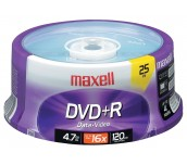 DVD-R MAXELL 16X 4.7GB ШПИНДЕЛ 25 БР
