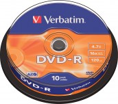 DVD-R VERBATIM ШПИНДЕЛ 10БР