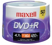 DVD-R MAXELL 16X 4.7GB ШПИНДЕЛ 50 БР