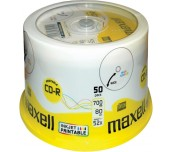 CD-R MAXELL 700MB 52X PRINTABLE ШПИНДЕЛ 50 БР