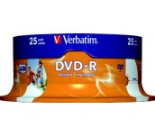 DVD-R VERBATIM 16X 4.7GB PRINTABLE ШПИНДЕЛ 25 БР