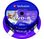DVD+R VERBATIM 16X 4.7GB PRINTABLE ШПИНДЕЛ 25 БР