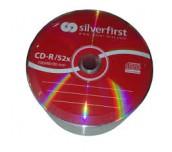 CD-R SILVER FIRST 700MB ОП.25 ШРИНГ