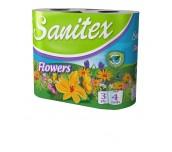 ТОАЛЕТНА ХАРТИЯ SANITEX FLOWERS 4БР 3ПЛ