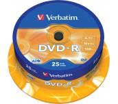 DVD-R VERBATIM ШПИНДЕЛ 25БР
