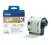 Brother DK-11209 Small Address Paper Labels, 29mmx62mm,  800 labels per roll, (Black on White)
