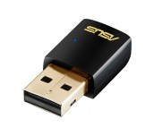 Asus USB-AC51, Wireless AC600 Dual-band USB client card 802.11ac, 433/150Mbps, 2.4Ghz/5Ghz dualband