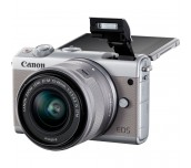 Canon EOS M100, grey + EF-M 15-45mm f/3.5-6.3 IS STM + EF-M 55-200mm f/4.5-6.3 IS STM