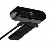 Logitech BRIO 4K Ultra HD Webcam, 5x HD Zoom, HDR, Autofocus, Black