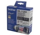 Brother DK-11204 Multi Purpose Labels, 17mmx54mm, 400 labels per roll, Black on White