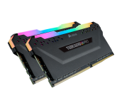 Памет Corsair DDR4, 2666MHz 16GB (2 x 8GB) 288 DIMM, Unbuffered, 16-18-18-35, Vengeance RGB PRO black Heat spreader,RGB LED, 1.35V, XMP 2.0