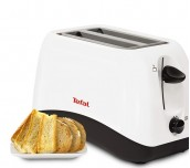 Tefal TT130130, Delfini 2, Toaster, 800W, 2 Hole, 7 Stage thermostat, Stop function, Defrosting, Reheating, white