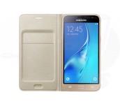 Samsung Galaxy J3 (2016), Flip Wallet Cover, Gold
