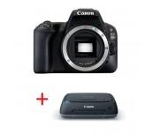 Canon EOS 200D Body, black + Canon Connect Station CS100