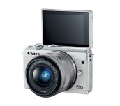 Canon EOS M100, white + EF-M 15-45mm f/3.5-6.3 IS STM + EF-M 55-200mm f/4.5-6.3 IS STM