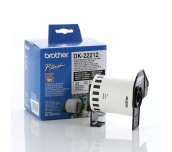 Brother DK-22212 White Continuous Length Film Tape 62mm x 15.24m, Black on White