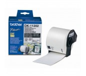 Brother DK-11202 Shipping Labels, 62mmx100mm, 300 labels per roll, Black on White