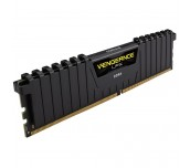 Памет Corsair DDR4, 3000MHz 16GB (1 x 16GB) 288 DIMM, Unbuffered, 15-17-17-35, Vengeance LPX Black Heat spreader, 1.35V, XMP 2.0, Supports Intel new Gen