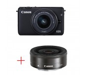 Canon EOS M10 black + EF-M 15-45mm IS STM + EF-M 22mm f/2 STM