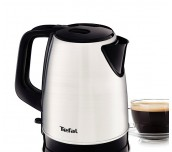 Tefal KI150D30, Dialog, Kettle, Stainless steel, 2400W, 1.7 l, 360 ° swivel base, Removable filter