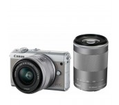 Canon EOS M100, grey + EF-M 15-45mm f/3.5-6.3 IS STM + EF-M 55-200mm f/4.5-6.3 IS STM