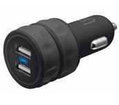 TRUST UR Dual Smartphone Car Charger - black