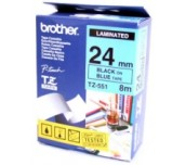 Brother TZ-E551 Tape Black on Blue, Laminated, 24mm, 8 m - Eco