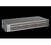 Суич Netgear GS750E, 48 x 10/100/1000 Prosafe Plus Gigabit Switch, 2 x SFP, Rack-mountable, (management via WEB and PC utility), Link Aggregation