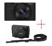 Sony Cyber Shot DSC-RX100 black + Leather case