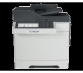 Color Laser Multifunctional Lexmark CX517de 4in1; Duplex; A4; 1200 x 1200 dpi; 4800 CQ;30 ppm; 1024 MB; RADF; 30 cpm; capacity: 250 sheets; USB 2.0; Gigabit LAN;  7'' colour touch screen