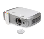 Projector Acer H7550ST 1080p, 3'000Lm, 16'000:1, DLP 3D, Short Throw, HDMI, HDMI/MHL, BT, 2D to 3D Conversion, CB 3D, ExtremeECO, Zoom, AutoKeystone, Audio, 20W, 2x 3D glasses, Bag, 3.4 Kg