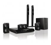 Philips система за домашно кино с високи задни тонколони, възпр. DVD, 300W, USB, HDMI