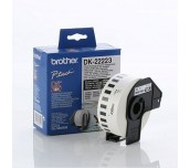 Brother DK-22223 White Continuous Length Paper Tape 50mm x 30.48m, Black on White