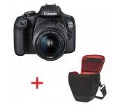 Canon EOS 2000D, black + EF-s 18-55mm f/3.5-5.6 IS II + Canon BAG Holster HL100, Black