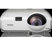 Epson EB-435W, Short Throw, WXGA, 3 000 ANSI lumens, 3 000:1, USB, WLAN (optional), LAN, RS-232, Speakers, Lamp warr: 12months or 1,000h