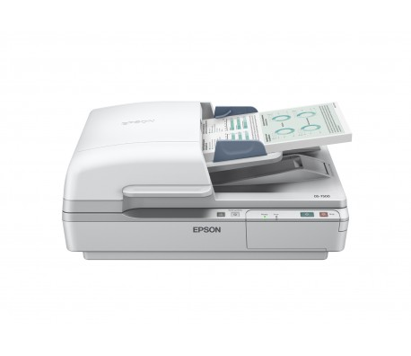 Scanner EPSON WorkForce DS-7500, Letter, 1,200DPI (Horizontal x Vertical), Standard (built-in), Yes, One keypress, RGB colour dropout, Skip blank page, Punch holes removal
