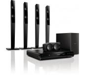 Philips система за домашно кино с високи тонколони, възпр. DVD, 300W, USB, HDMI