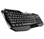 Клавиатура AULA SI-859/EN Be Fire expert gaming keyboard, лазерно гравирани символи, подсветка в три различни цвята с 4 нива на регулиране на яркостта, ергономичен дизайн, 8 сменяеми клавиша, позлатен USB, Black, (EN)