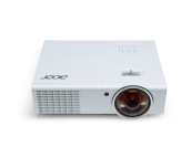 Projector Acer S1370WHn, DLP® 3D Ready, Short-Throw, Resolution: WXGA (1280x800), Format: 16:10, Contrast: 10 000:1, Brightness: 2 500 lumens, Input: HDMI®, 2xD-sub, RCA, S-video, Audio In, Output: D-sub, Audio Out, Acer ColorBoost, Acer SpectraBoost, Ace