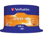 DVD-R VERBATIM 16X 4.7GB ШПИНДЕЛ 50 БР