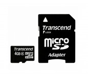 Transcend 4GB microSDHC (with adapter, Class 4)