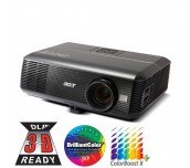 Projector Acer P5390W, ПОДАРЪК: Ръчен екран, DLP® 3D Ready, WXGA (1280x800), Contrast: 3 700:1, Brightness: 4 000 lumens, Input: HDMI®, DVI, 2xD-sub, RCA, S-video, 2xAudio In, Output: D-sub, Audio Out, Lens Shift, Acer ColorBoost II+, Acer ColorSafe, Acer